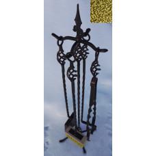 Каминный набор Витой 4 предмета золото ковка