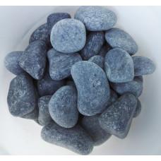 Камень для бани Пироксинит шлифованный (Черный принц) мелкая фракция ведро 10 кг.