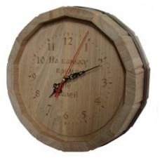 Часы с гравировкой  Бочка D-300 (дуб)