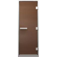 Дверь стеклянная в хамам Бронза матовая 190х80