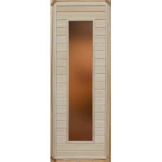 Дверь глухая остекленная (сорт А) 1800*700 с притвором