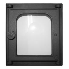 Дверца K302 топочная 250х280 мм застекленная