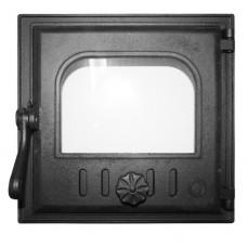 Дверца K401 топочная 250х240 мм застекленная, герметичная