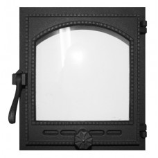Дверца K404 топочная 290х325 мм застекленная,