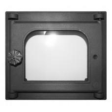 Дверца K301 топочная 250х210 мм застекленная,