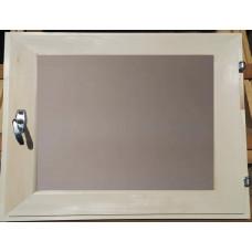 Оконный блок (форточка) стеклопакет липа 30*40 матовое стекло