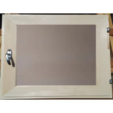 Оконный блок (форточка) стеклопакет липа 40*30 матовое стекло