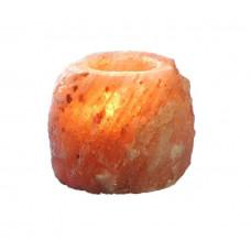 Подсвечник Натуральный из гималайской соли