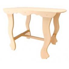 Стол с фигурными ножками 1200*630*730