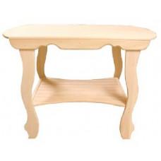 Стол с фигурными ножками с полкой 1000*630*730
