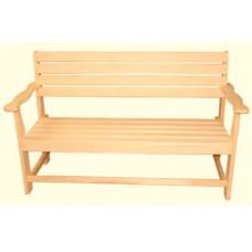 Скамейка с подлокотником наличник 1400*550*900