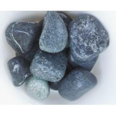 Камень для бани Змеевик  шлифованный 10 кг (Черный принц)