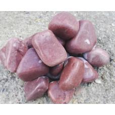 """Камень для бани кварцит малиновый шлифованный """"Сердце Карелии"""" 20 кг"""