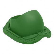 Комплект проходной элемент Труба (метал. черепица) зеленый