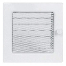 Вент.решетка 170х170 мм. белый с жалюзи