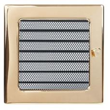 Вент.решетка 170х170 мм. золото.  с жалюзи