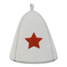 Шапка для бани со звездой пц