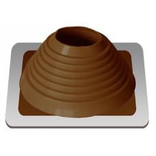 Уплотнитель кровельный №6 силикон 127-228 mm коричневый