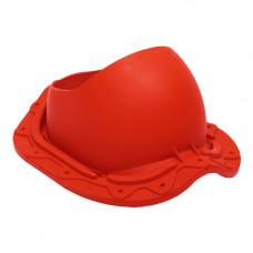 Комплект проходной элемент Труба (метал. чер.) красный