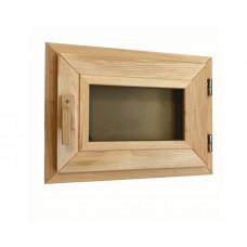 Оконный блок (форточка) стеклопакет ольха 30*40