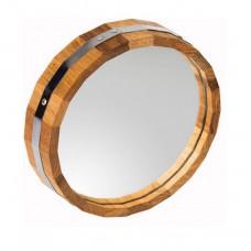Зеркало d30 дуб круглое