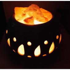 Солевая лампа Луна (гималайская соль)