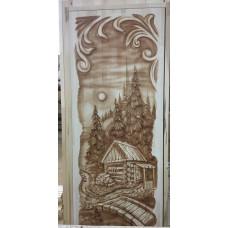 Дверь резная массив Банька.мостик 1800*700