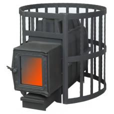 Банная печь ПароВар 16 сетка-ковка (201) стекло