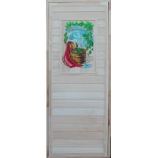 Дверь пано цветное 1800*700 №4 (банька)