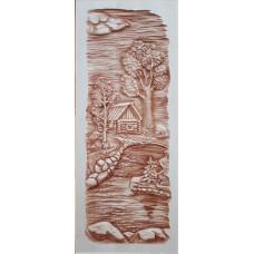 Дверь резная массив Одинокая елка 1900*700