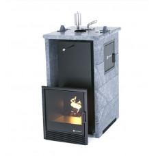 Печь банная ИзиСтим Премиум Сочи-М2 в трехстороннем кожухе из талькохлорита