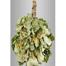Веник из кавказского дуба с букетом трав «Экстра»  в инд. упаковке