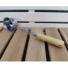 Черпак нержавеющая сталь с деревянной ручкой 200 мл