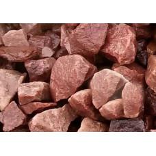 Камень для бани кварцит малиновый 20 кг