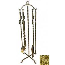 Набор каминный 4 предмета Эфес золото ковка