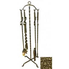 Набор каминный 4 предмета Эфес бронза ковка