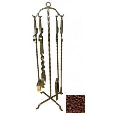 Кованный каминный набор (4 предмета) Эфес медь