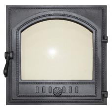 Дверца топочная K505 410*410  мм застекленная
