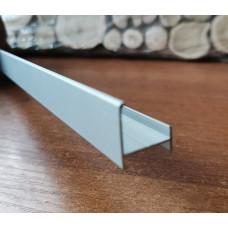 Профиль алюминиевый под кирпич/плитку с пазом