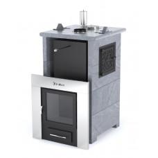 Печь банная ИзиСтим Сочи-М2 в трёхстороннем кожухе из талькохлорита