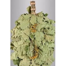 Веник из кавказского дуба с пижмой «Экстра»  в инд. упаковке