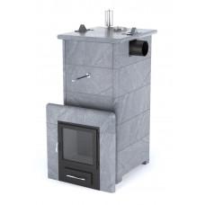 Печь банная ИзиСтим Сочи с боковым подключением в кожухе из талькохлорита