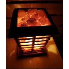 Солевой светильник Колодец с камнями (гималайская соль)
