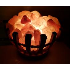 Солевой светильник Чаша с камнями (гималайская соль)