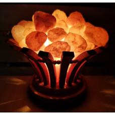 Солевой светильник Ваза с камнями (гималайская соль)