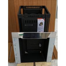 Банная печь Каминика ПБ 18-У/Г сетка газо-дровяная (без горелки)