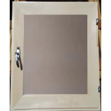 Оконный блок (форточка) стеклопакет липа 40*50 матовое стекло