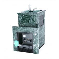 Печь банная ИзиСтим Премиум Сочи-М2 под газ с открытым верхом в кожухе из змеевика