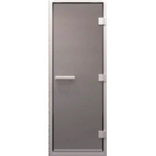 Дверь стеклянная в хамам Сатин 200х70