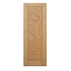 Дверь резная Банный указ 1900*700